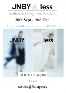 Messe Paris 2019 - JNBY Spring /Summer 2020