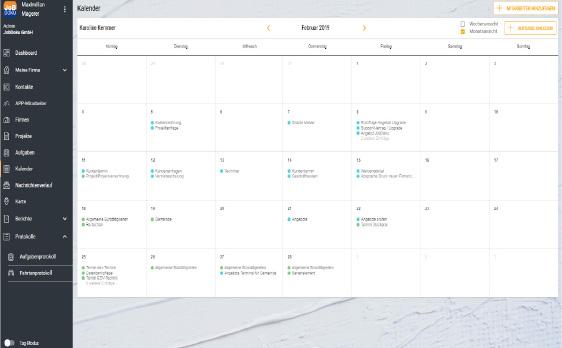 Jobdoku - app - Kalender