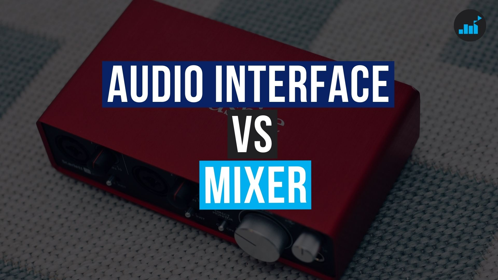 audio interface vs mixer for podcasting thumbnail