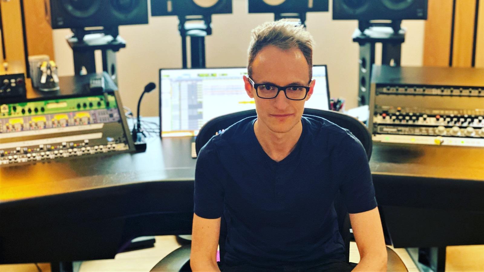 joe crow the audio pro in recording studio