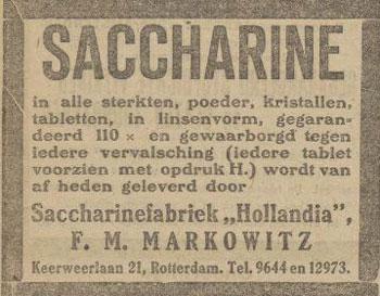 saccharinemarkowiz