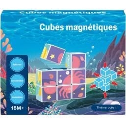 9 CUBES MAGNETIQUES MARINS