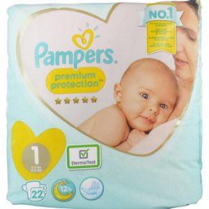 PAMPERS PREMIUM PROTECTION T1 2-5KGS 22 COUCHES