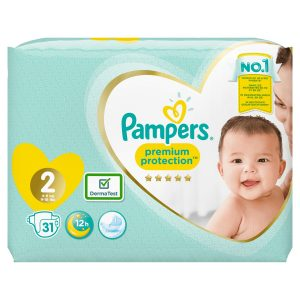 PAMPERS PREMIUM PROTECTION T2 4-8 KGS 31COUCHES
