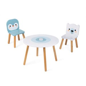 TABLE ET 2 CHAISES BANQUISE