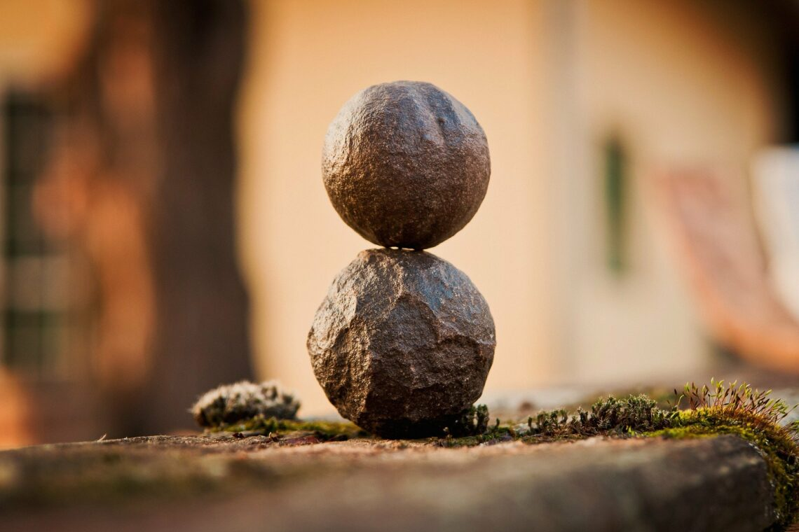 balance two stones heart coherence