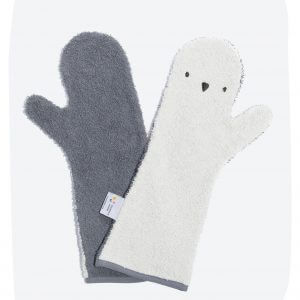 Baby Shower Glove – Penguin Dark/Light Grey