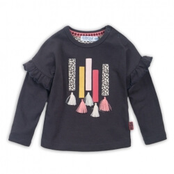 Baby tshirt ls Dark Brown