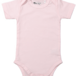 Baby body short sleeves Light Pink