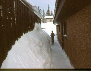 Vårat hus med garaget bredvid