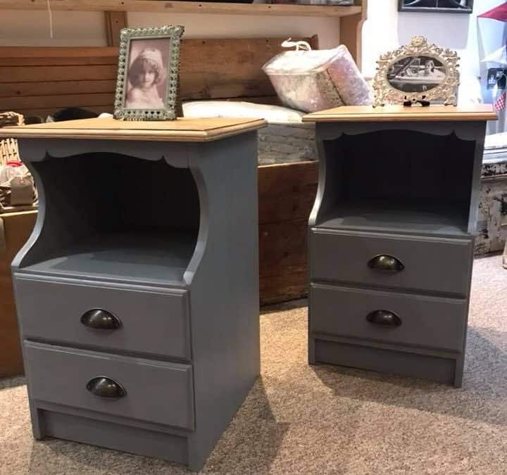 Pair of Solid Pine Bedsides