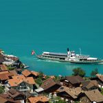lake brienz paddle steamer at iseltwald