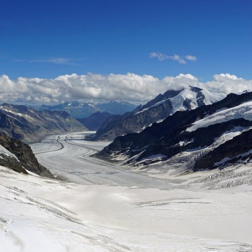 Jungfraujoch-Top of Europe with Aletsch Glacier