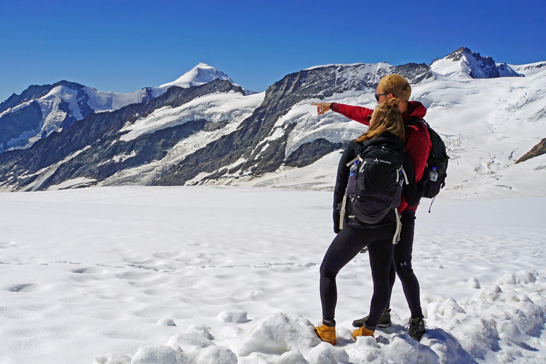 jungfraujoch - top of europe with aletschhorn
