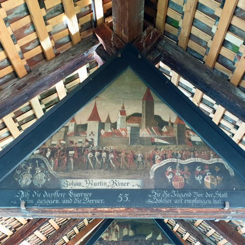 paintings on the chapel bridge Lucerne