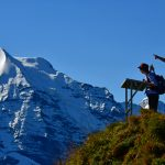 viewpoint glaciated mountain