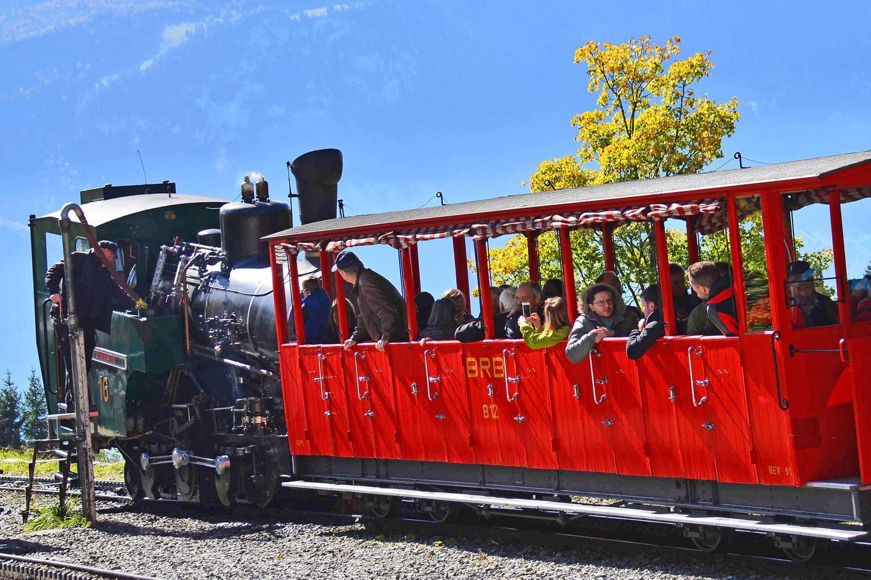 Brienz Rothorn steam train at Planalp station