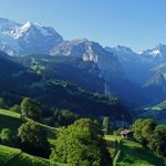 wengen and lauterbrunnen valley with the jungfrau