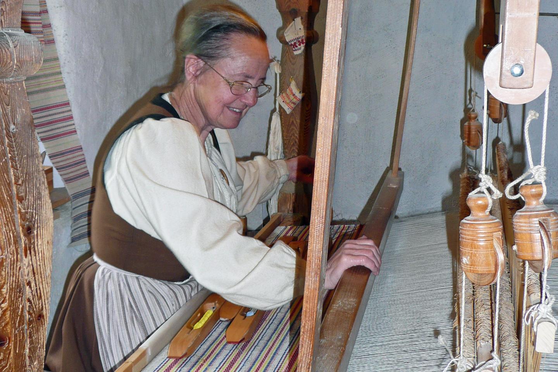 A weaving demonstration at the Ballenberg open air museum