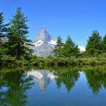 The Matterhorn mirrors in the Grindjisee near Sunnegga