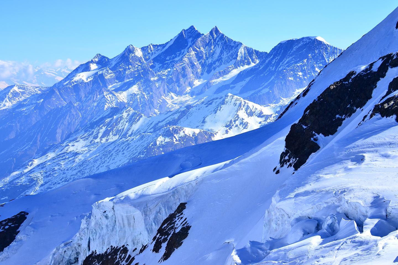 Matterhorn Paradise view glaciers and peaks