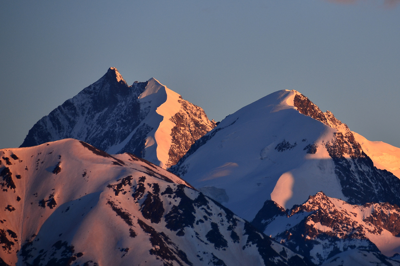The Piz Bernina 4049 m seen from Muottas Muragl