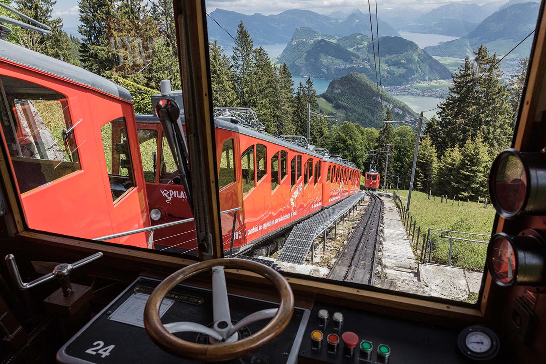 View from the Pilatus cog railway