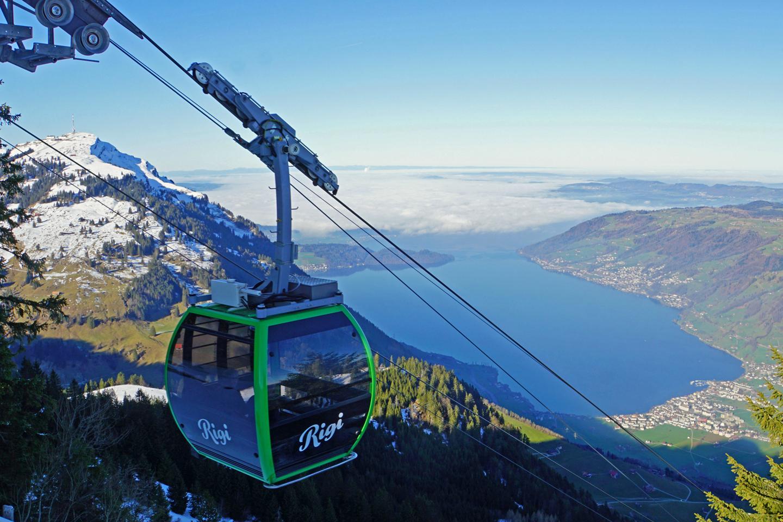 The small gondola heading for Rigi Scheidegg