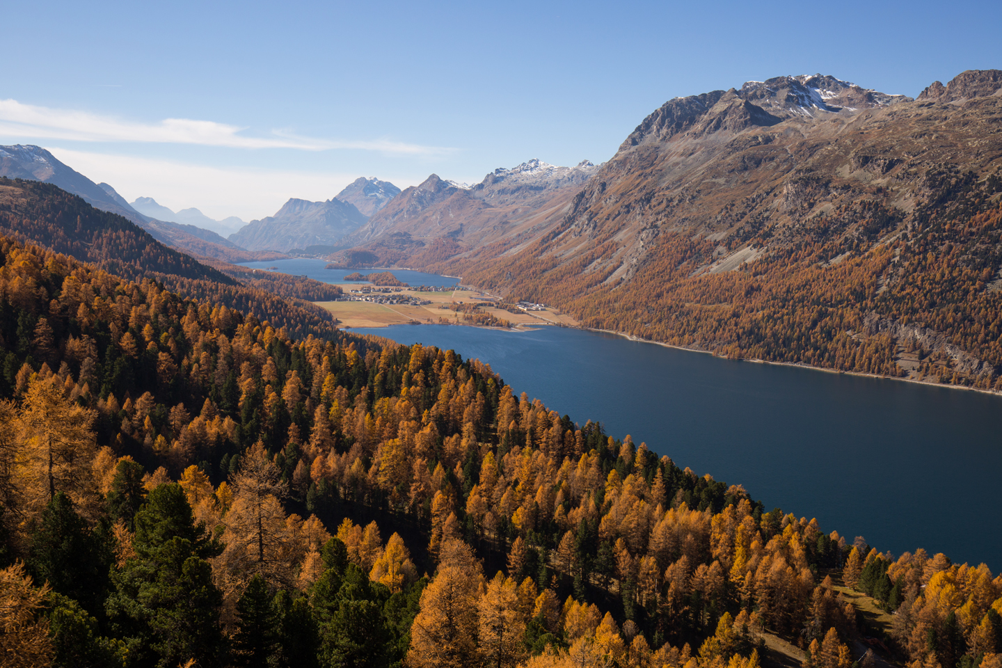 View from the Corvatsch Gondola in late autumn