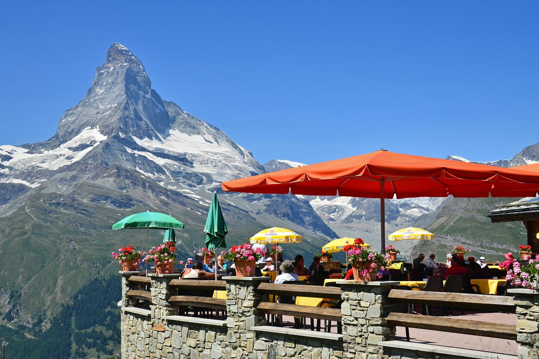 Terrace of Sunnegga with Matterhorn