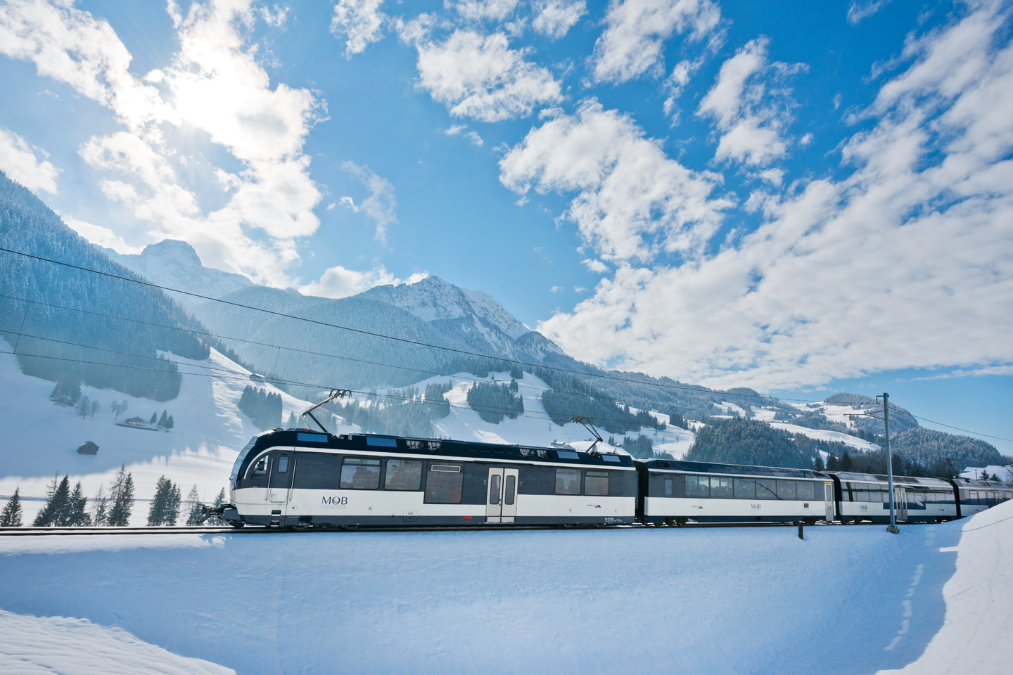 The GoldenPass Line in winter