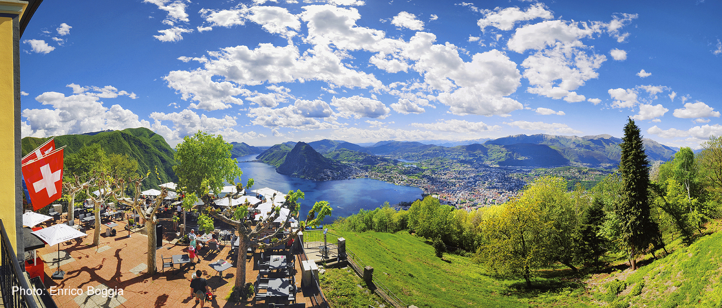 View from Monte Bré above Lugano