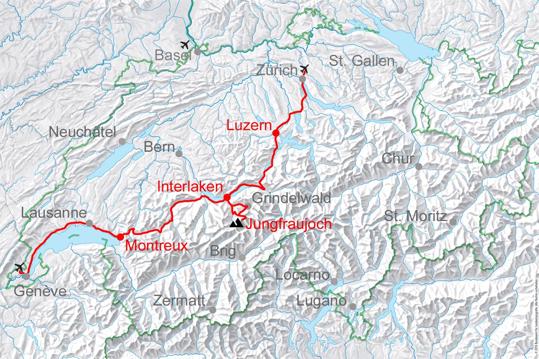 map for Golden Pass Line