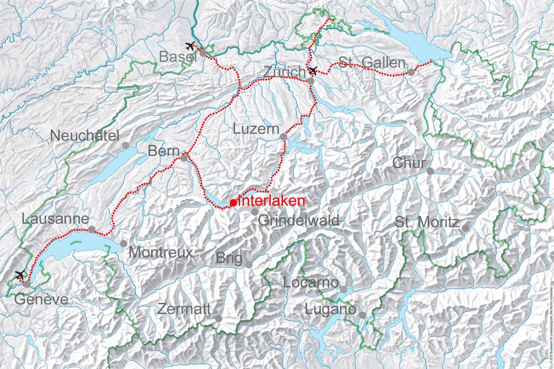 map for Interlaken Exclusive