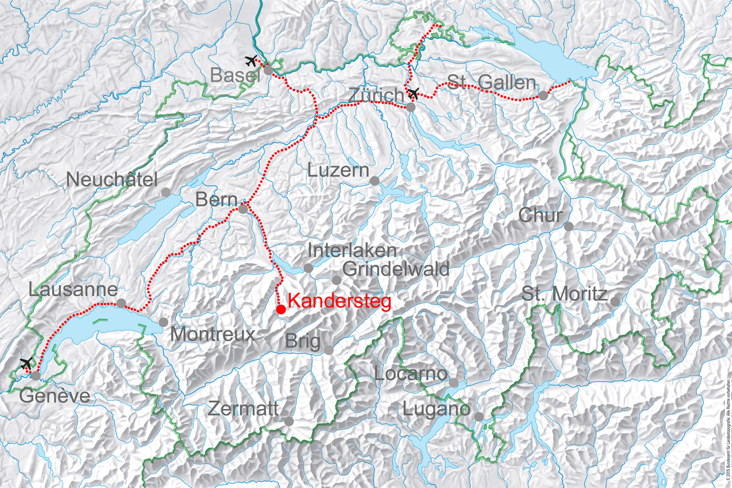 map for Kandersteg Exclusive