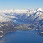 Interlaken seen from Mt. Niesen