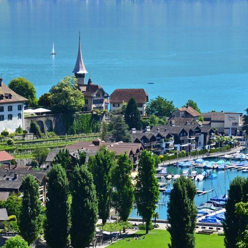 Spiez located on a beautiful bay on Lake Thun