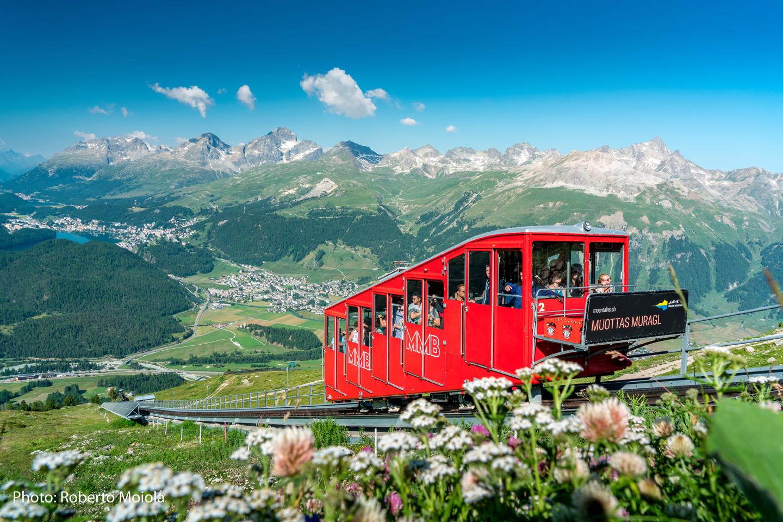 The Muottas Muragl funicular railway
