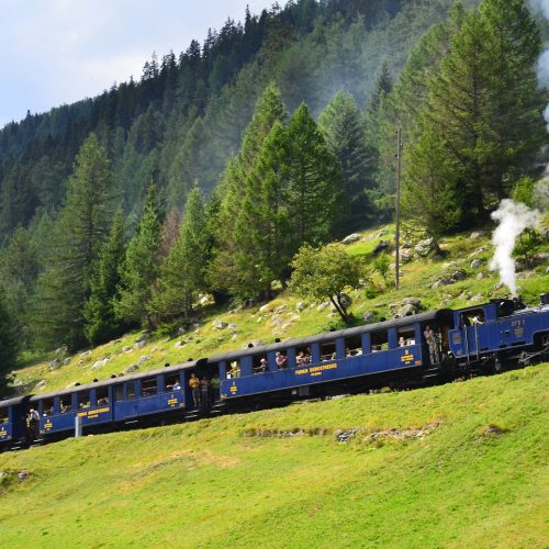 Furka steam train near Oberwald