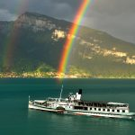 paddle steamer DS Bluemlisalp on Lake Thun