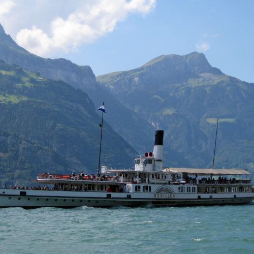 The paddle steamer DS Schiller on Lake Lucerne