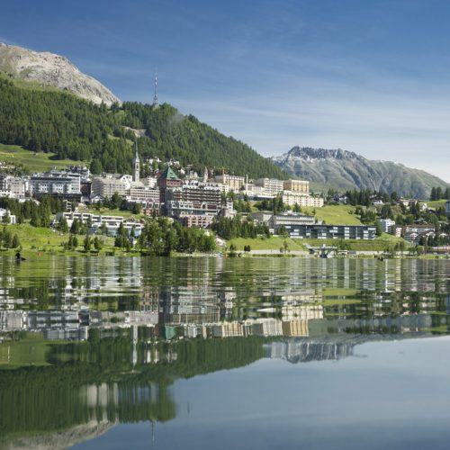 St. Moritz is located on the lake