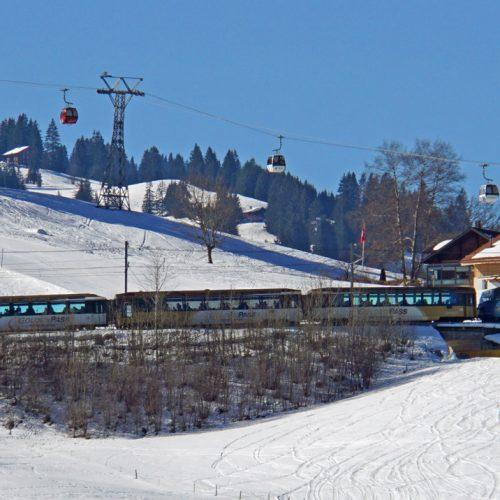 golden pass train in winter