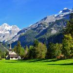 The Bluemlisalp mountain rises over Kandersteg