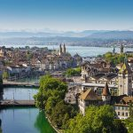 Zurich and the Alps in the background