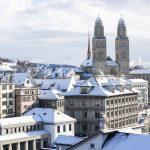 Grossmuenster Zurich in winter