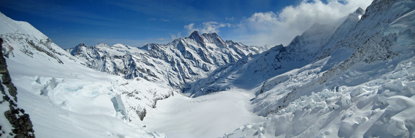 View from the Eismeer station on the way up to the Jungfraujoch