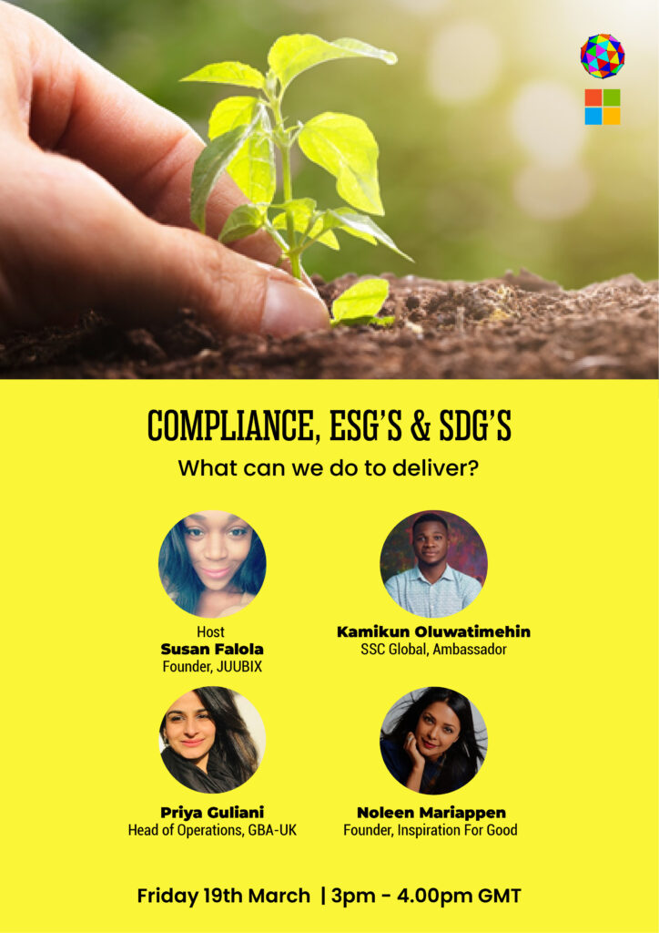 Compliance ESD's & SDG's - What Can We Do To Deliver?