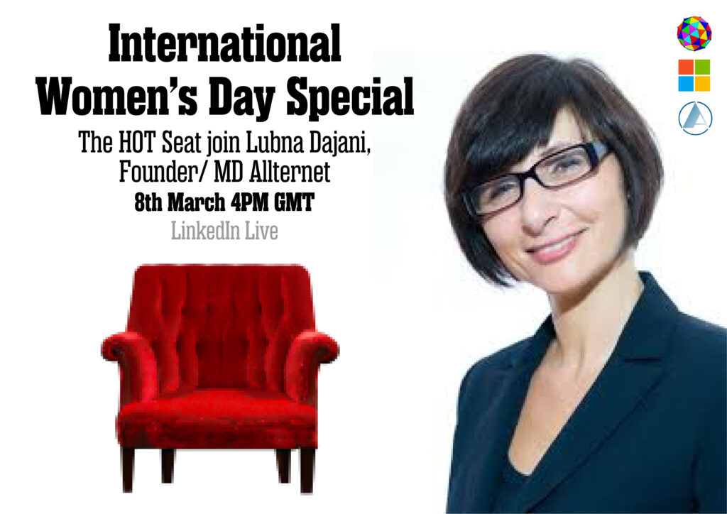 International Women's Day Special - The HOT seat join Lubna Dajani