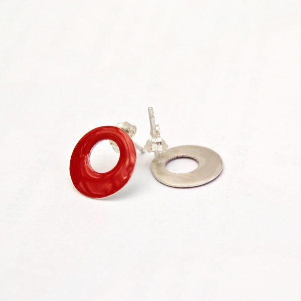 gekleurde oorstekers rood